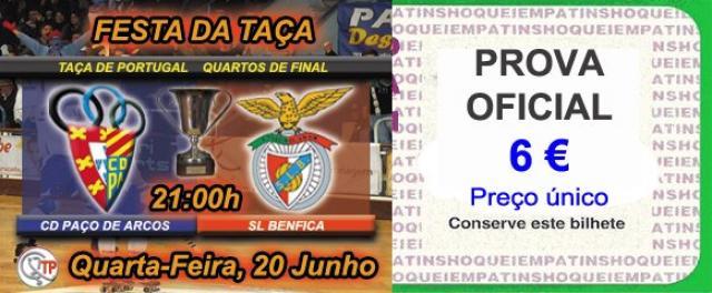 CD Paço de Arcos - SL Benfica com bilhetes à venda