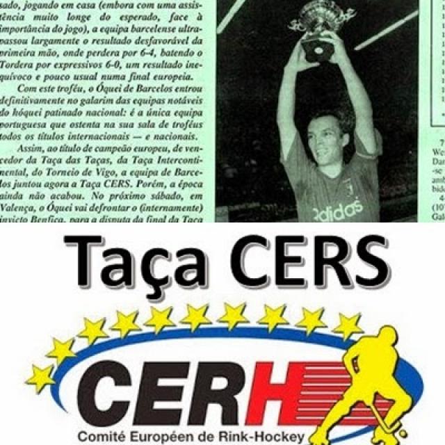 Taça Cers - Domingos Carvalho capitão do Barcelos em 1994 -