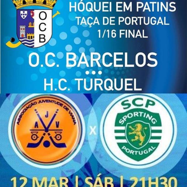 Taça de Portugal - HC Turquel e Sporting CP jogam no Minho.
