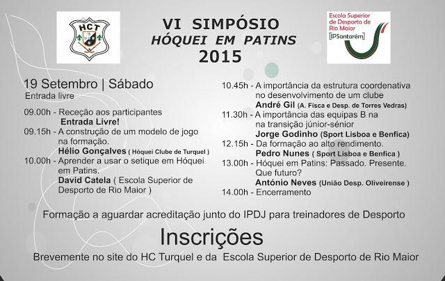 VI SIMPÓSIO HÓQUEI EM PATINS - 2015